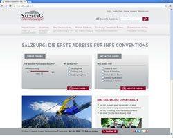 Salzburg Convention Bureau mit neuer Webseite und Suchmaschine für Event- und Kongressveranstalter