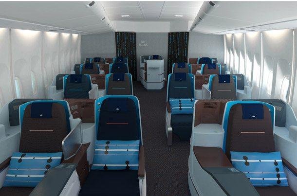 KLM: Neues Design in den Kabinen klmcabin610x403pix