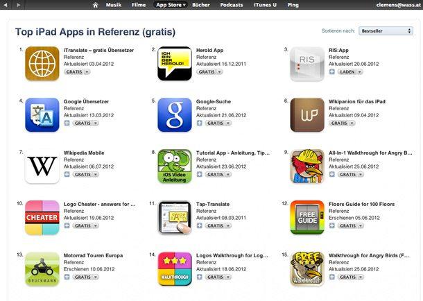 Gratis-Apps bei iTunes für User von iPads und iPhones (Foto: Archiv/Apple)