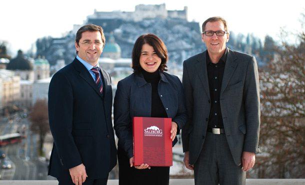Vermarkten Salzburg als Top-Destination für Kongresse und Veranstaltungen:Georg Imlauer, Heidi Strobl und Alfred Wieland (Foto:SCB)