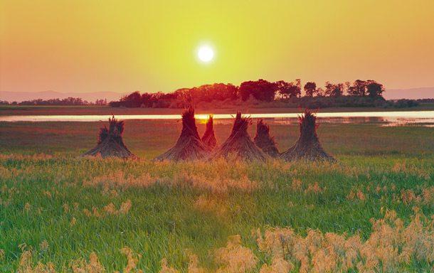 Sonnenuntergang Landschaft bei Apeltlon