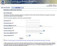 Das Einreiseformular I-94 für die USA