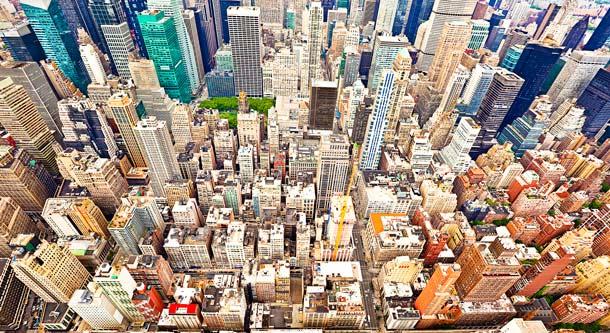 Die Millionenmetropole NewYork aus der Luft