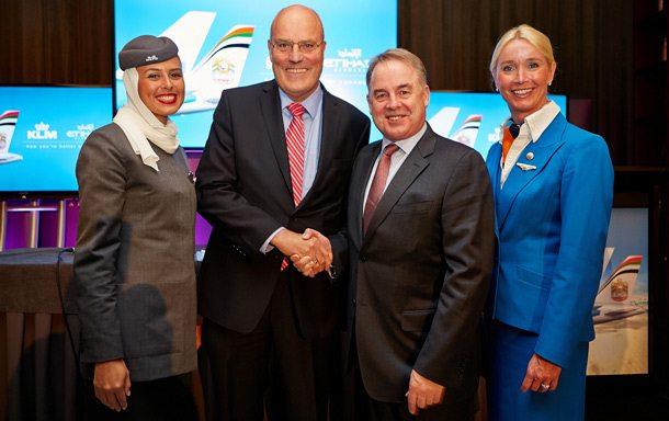 Codeshare-Partner Etihad Airways und KLM