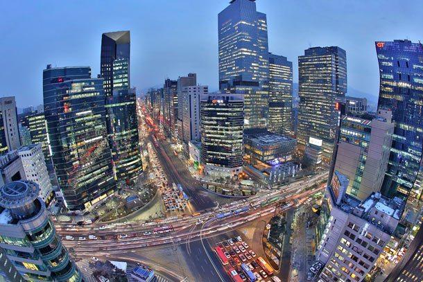 Gangnam ist eins der 25 Stadtviertel in Seoul