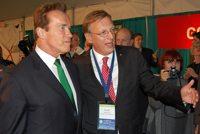 Rudolf Thaler und Gov. Arnold Schwarzenegger