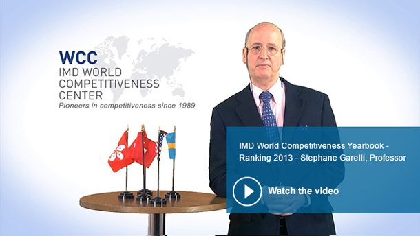 IMD World Competitiveness Center Rankings 2013
