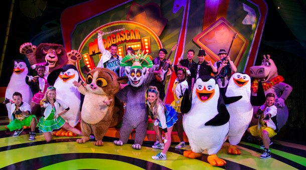 """Kinohit """"Madagascar live!"""" jetzt als Show in Busch Gardens Tampa"""