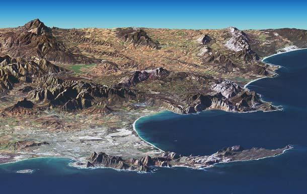 Südafrika: Satellitenaufnahme vom Kap der Guten Hoffnung
