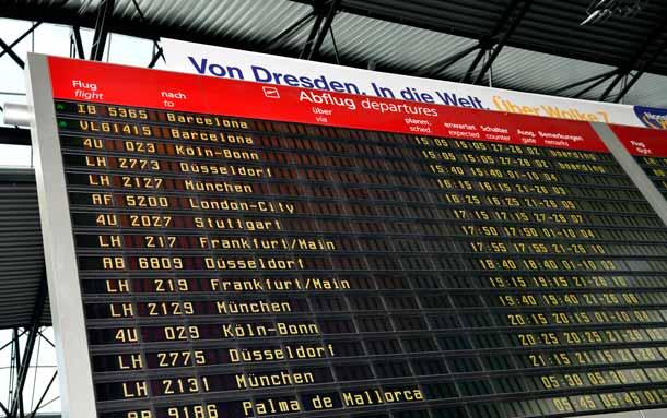 Airport Dresden: Anschlussflüge nach Europa