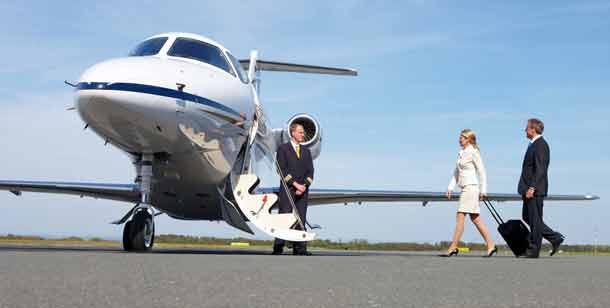 Luxusreisen liegen im Trend: Mit dem Privatjet in den Urlaub jetten für alle, die es sich leisten können (Foto: Air Partner)