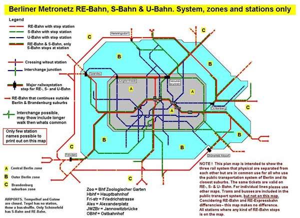 Berliner Streckennetz der Öffis