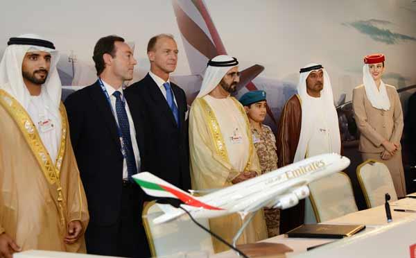 Großeinkauf von Emirates bei der Dubai Air Show