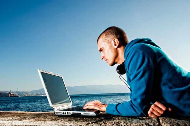 Internet am Strand