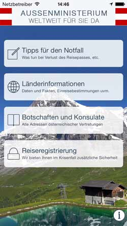 Auslandsservice-App