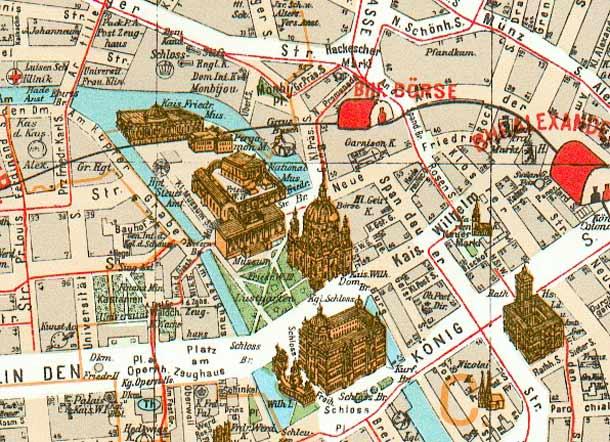 Stadtplan Museumsinsel Berlin
