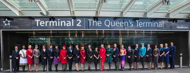 The Queen's Terminal auf dem Londoner Flughafen Heathrow
