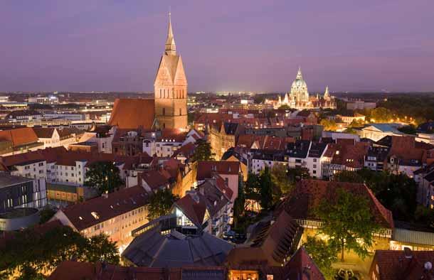 Luftansicht von Hannover