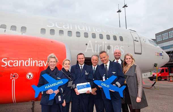 SAS-Erstflug von Hamburg nach Oslo