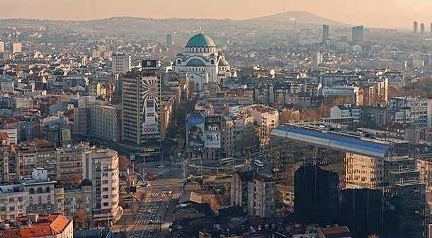 Serbien: Panorama von Belgrad