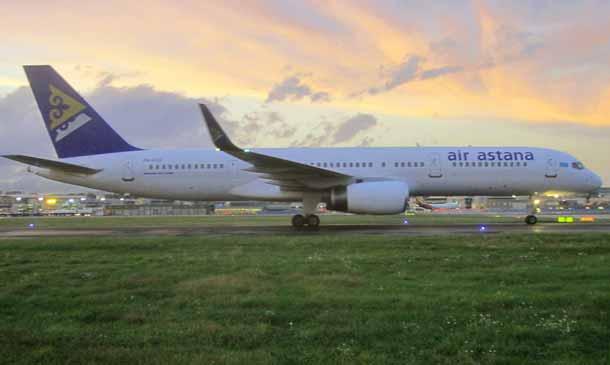 Die kasachische Fluggesellschaft Air Astana darf seit 2014 ohne Flugbeschränkungen alle Airports in der EU anfliegen