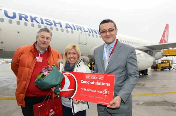 Salzburg Airport: 100.000 Passagier der Turkish Airlines