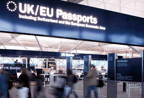 Ausreisekontrollen in Großbritannien