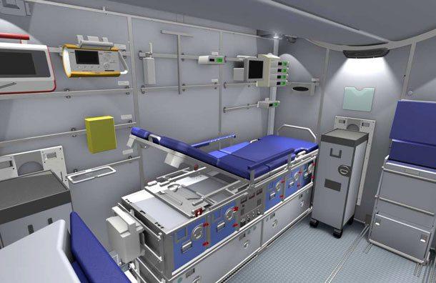 Lufthansa: Patient Tranport Compartment