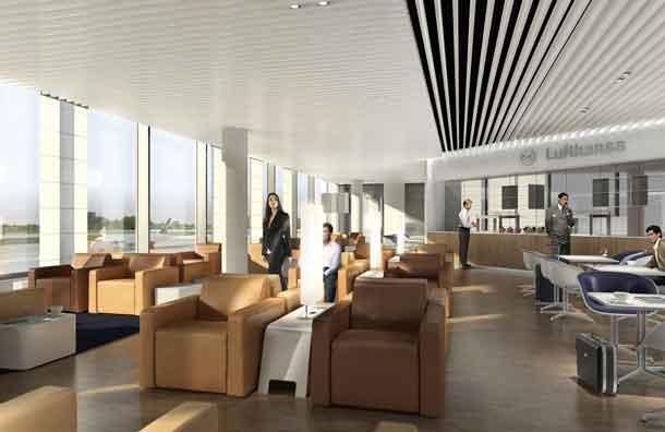 Lufthansa Lounges im neuen Satellitengebäude in München