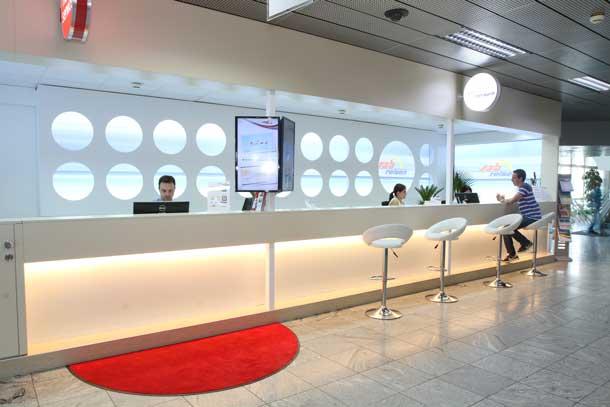 Der neue Beratung-Counter von sah-reisen am Linzer Airport