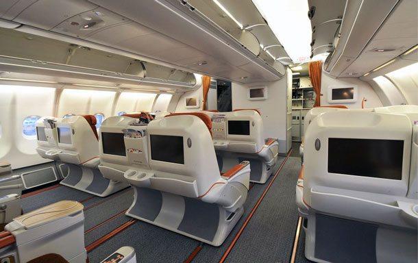 Freundlich und modern präsentiert sich die Business Class im Airbus A330 der Aeroflot. Jetzt wird das Serviceangebot erweitert (Foto: Dmitry Petrov, Wikipedia)