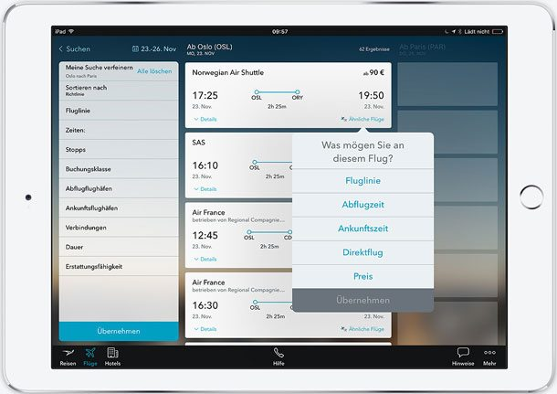 "Neues Flugbuchung-Feature für den Egencia TripNavigator ist ""ready for take-off"""
