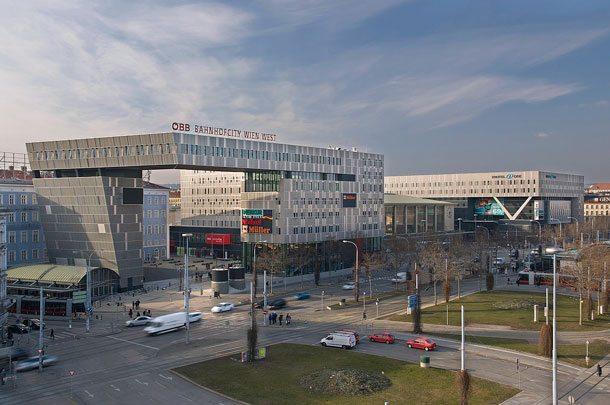 Aus dem Wiener Westbahnhof wurde Bahnhof City Wien West (Foto: Sven Gross-Selbeck)