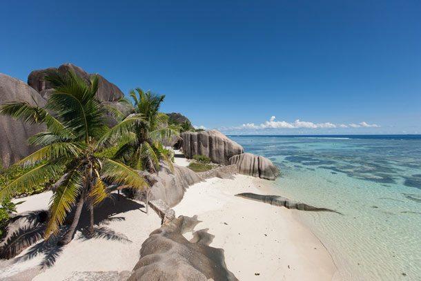 Zum schönsten Strand auf den Seychellen wurde Anse Source d'Argent – La Gigue gewählt (Foto: SeyVillas)