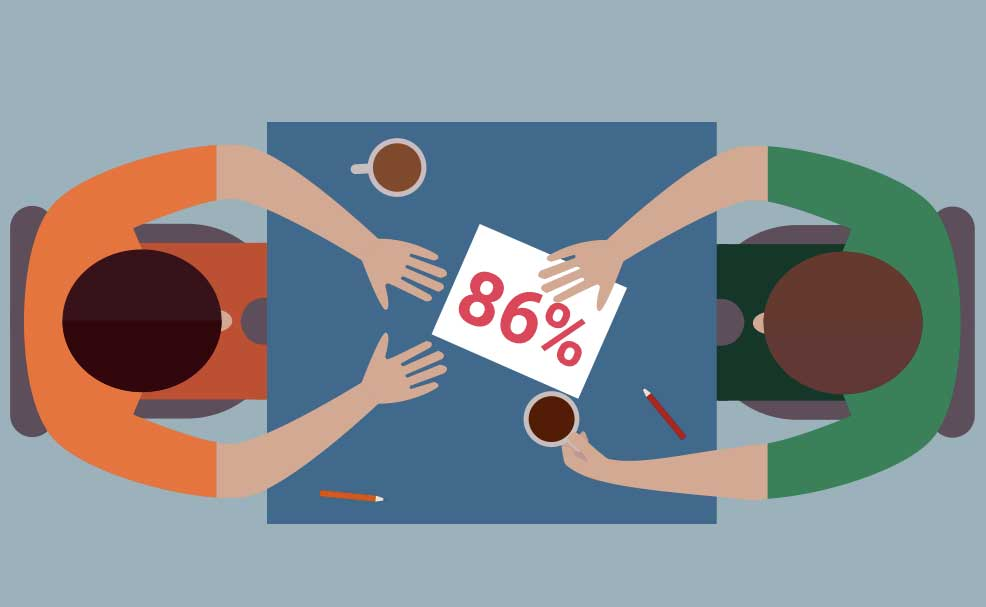 Laut einer neuen Studie bevorzugen 86 Prozent der Geschäftsreisenden das persönliche Gespräch (Grafik: Egencia)