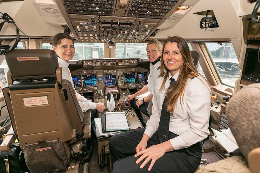 Wir fragen die Experten: Wie viele Pilotinnen sind in der Lufthansa Group tätig? (Foto: Oliver Roessler, oro-photography)