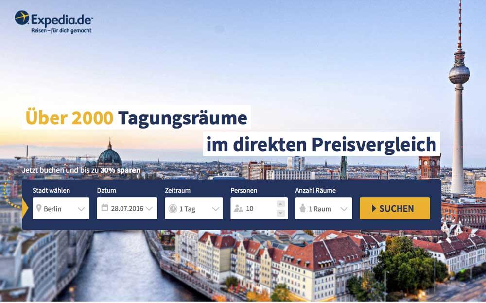 Buchungsmaschine für Hotelwebsite ergänzt bestehendes Tagungsportal Meeting Market von Expedia (Foto:TRAVELbusiness)