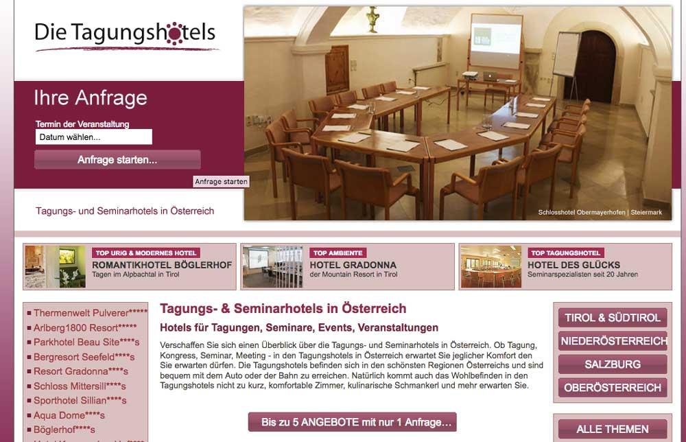 Neues Portal für Seminar- und Tagungshotels in Österreich ist online (Foto: TB)