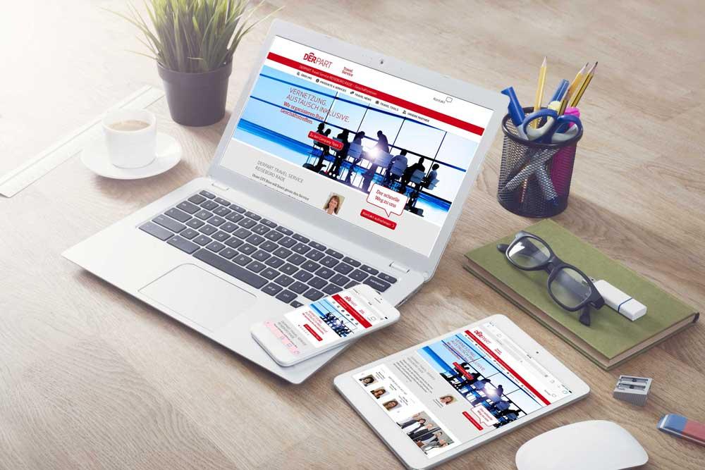Im neuen Look & Feel präsentiert Derpart seine Geschäftsreise-Webseite DTS24