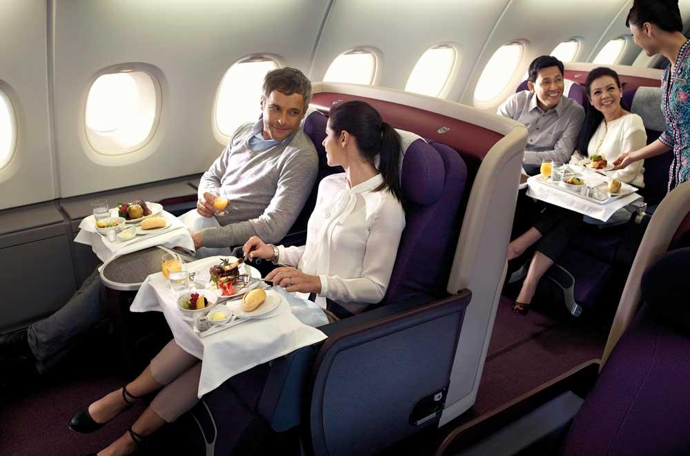 Auf intrkontinentalen Flügen soll in 2017 die Business Class wieder billiger werden (Foto: MAS)