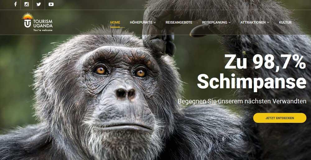 Uganda präsentiert sich ab sofort mit neuer Website in deutscher Sprache