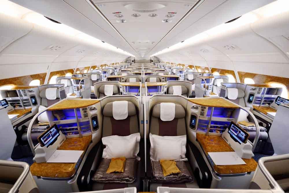 Emirates Business Class im Airbus A380: Mit dem Firmenbonusprogramm erhalten Geschäftsreisende viele Vorteile
