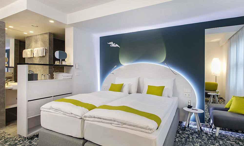 Modern und entsprechend den Bedürfnissen von Geschäftsreisenden und Touristen sind die Zimmer im neuen ARCOTEL Donau Zentrum eingerichtet