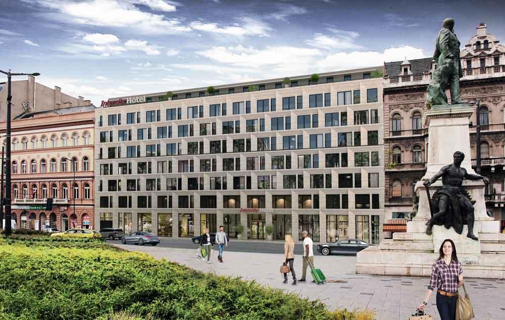 So sieht das erste IntercityHotel der Deutschen Hospitality in  Budapest aussehen, wenn es 2019 eröffnet wird