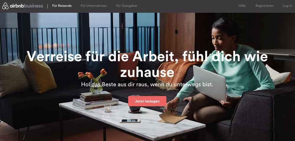 Airbnb-Website für Geschäftsreisende: Lockrufe, damit die Kassa noch mehr klingelt