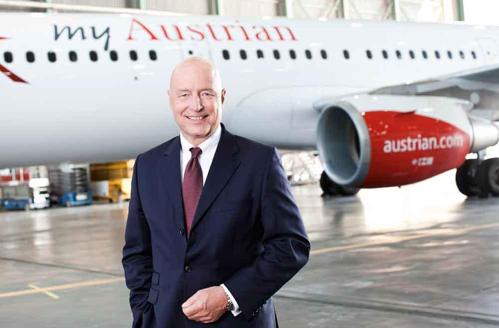 Austrian Airlines CEO Kay Kratky freut sich über die wirtschaftlichen Ergebnisse in 2016. Aber er macht sich auch Sorgen für das Wirtschaftsjahr 2017 (Foto: © Austrian Airlines, Pauty)