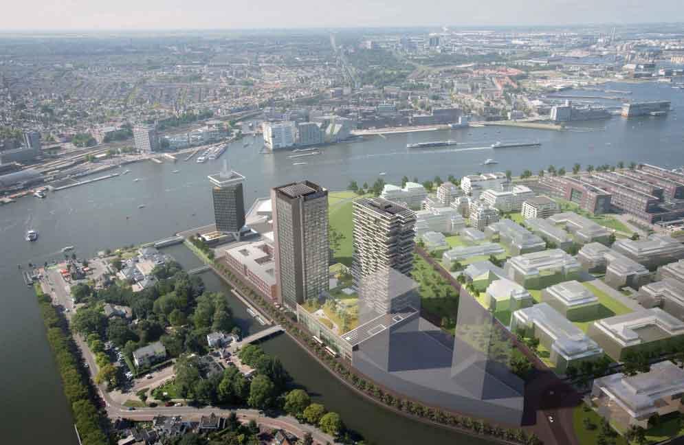 In Amsterdam errichtet Maritim das höchste Hotel der Stadt und zugleich eines der größten Kongresshotels Europas (Foto: eam-V-Architecture-a-visualisation-by-Zwartlicht)