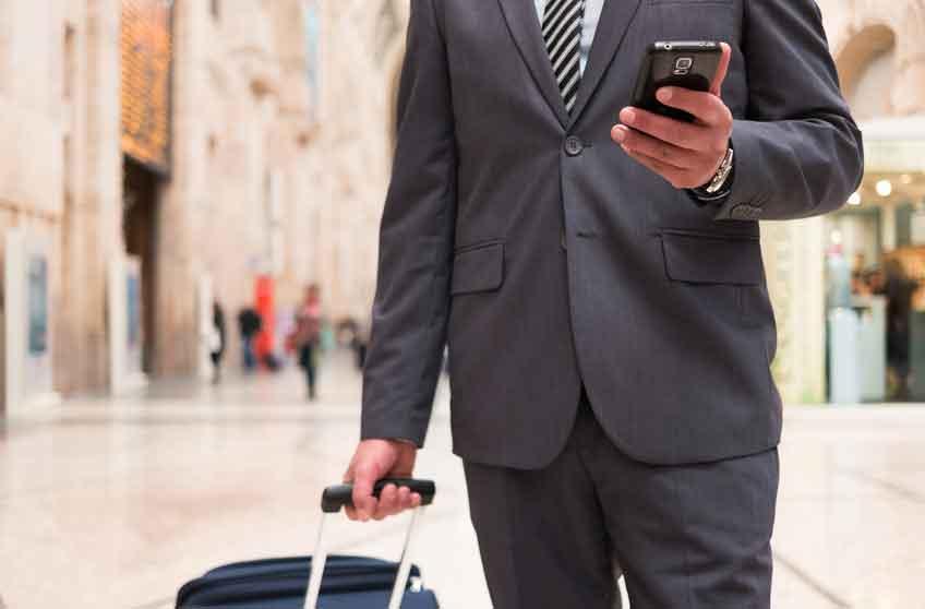 Neue App für mehr Sicherheit  von Geschäftsreisenden (Foto: TB, Oki)