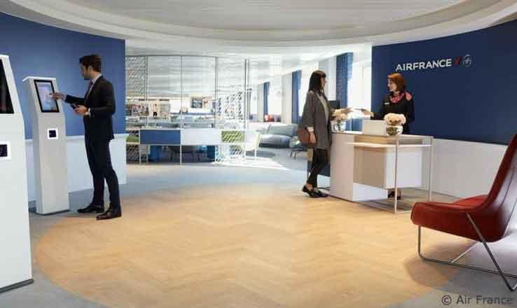 Neue Air France-Lounge am Pariser Airport CDG für Business-Passagiere und Elite-Plus-Gäste