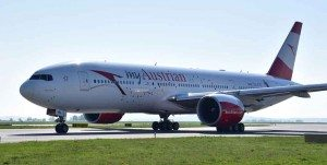First Flight der Austrian Airlines mit einer B777 nach Los Angeles (Foto: Hannes Winter, Austrian)